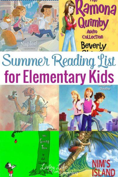 Summer Reading List for Elementary Kids