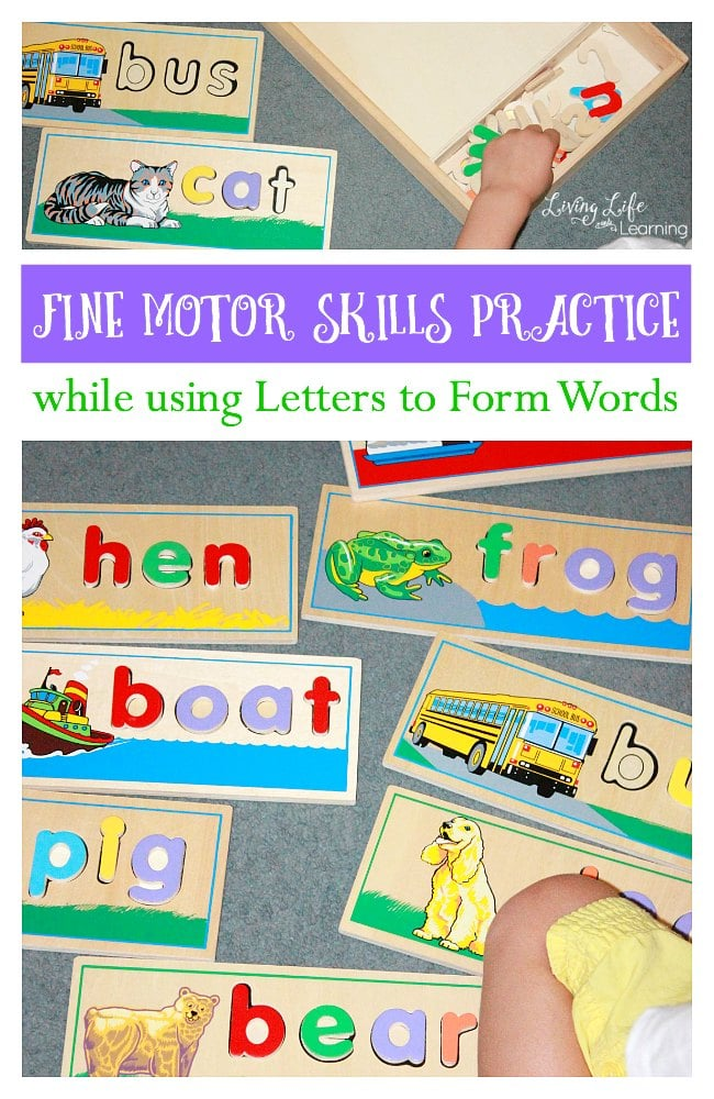 Fine Motor Skills Practice to Form Words