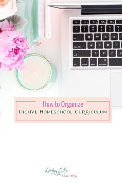 Get your homeschool curriculum organized with tips on how to organize digital homeschool curriculum so you can always find what you need. Don't waste money on curriculum when you may already have what you need on your hard drive.