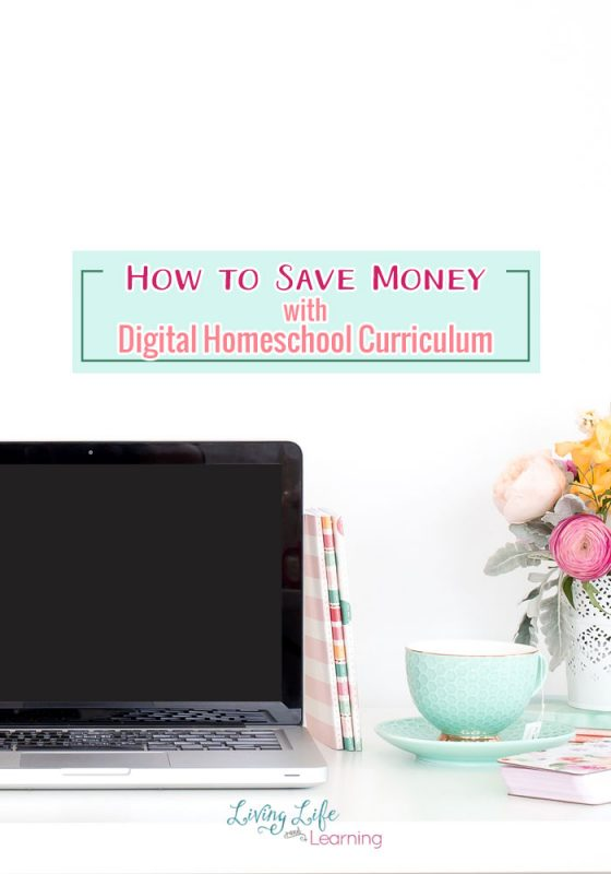 How to save money with digital homeschool curriculum, save on shipping and buy internationally with no extra costs and they're cheaper than print books.