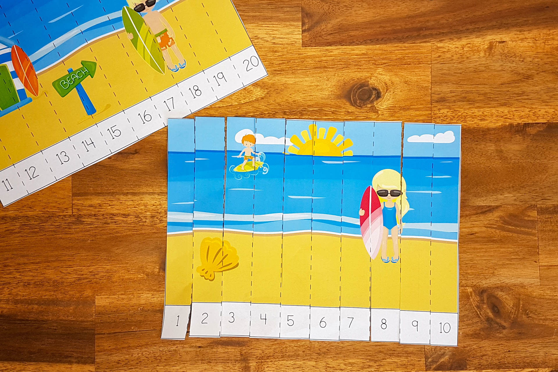 Summer counting puzzles