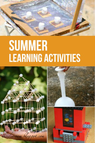 Come and take a look at this really fun list of Summer Learning Activities that the kids will love! They won't even know they're learning!