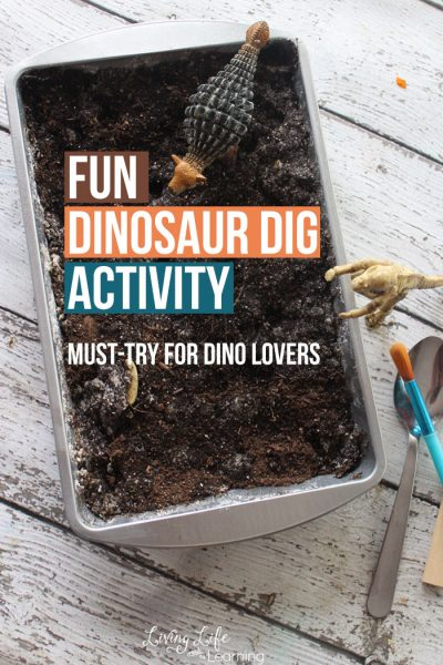 Have tons of fun with this amazing dinosaur dig activity, your little dinosaur lover will enjoy digging up their own dinosaur fossils.
