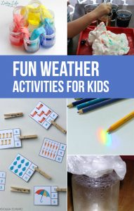 I think it would be really nice for kids to learn more about weather so they can get to know it more! These fun weather activities for kids are perfect!
