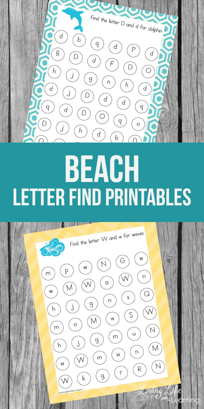 Don't let summer slide happen, use this beach letter find printable to match upper and lowercase letters in a fun beach theme. Learning can be fun and in only a few minutes your kids will have a fun way to practice matching their letters.