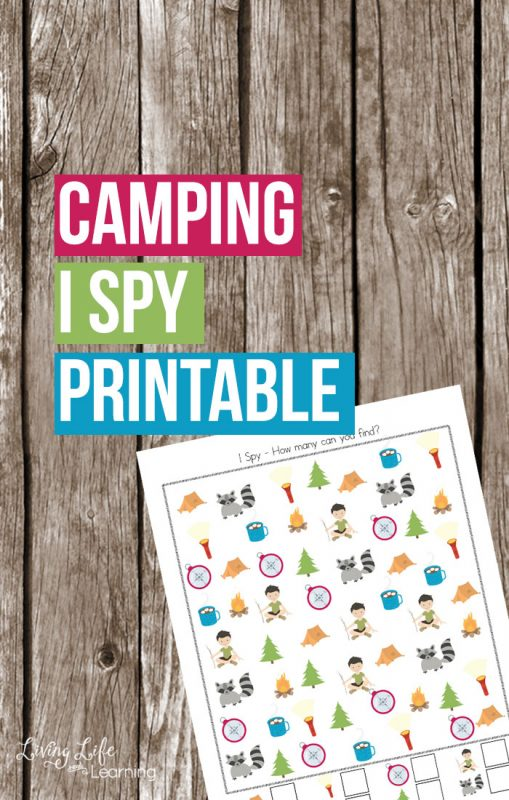 Camping is a wonderful memory maker, bring it into your homeschool with this fun camping I spy printable and your kids won't realize they're learning.