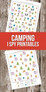 Camping I Spy Printables