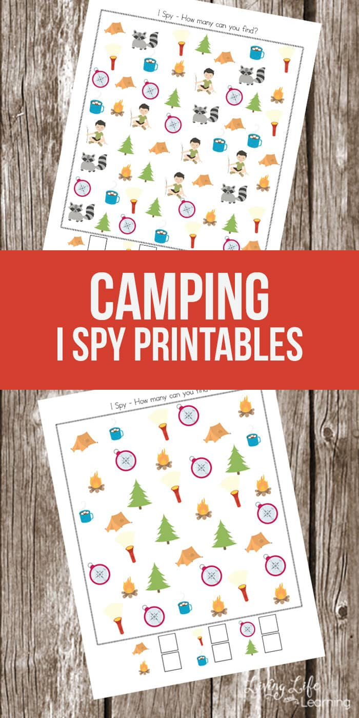 My daughter loves these I spy printables, they're so fun. Camping is a wonderful memory maker, bring it into your homeschool with this fun camping I spy printable and your kids won't realize they're learning.
