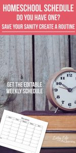 Create a homeschool routine and make a homeschool schedule