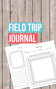 Try this printable field trip journal to capture what your kids learned the most from their field trip. Get them engaged with what they saw on the trip.