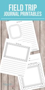 Printable Field Trip Journal