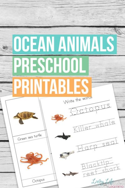 Sea lovers will go crazy for this Safari Ltd Ocean Animals Preschool Printables to learn more about their favorite sea creatures.