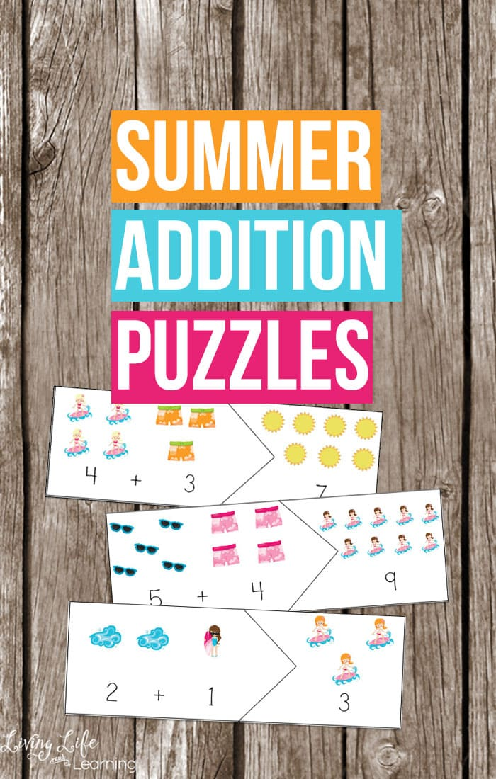 Fun Summer Addition Puzzles