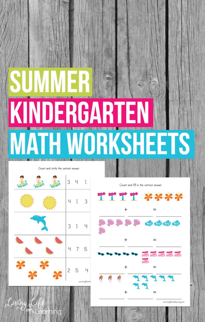 Have fun and keep up those math skills with these cute summer kindergarten math worksheets to keep summer slide from happening.