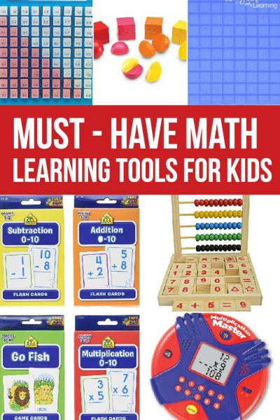 Math is more than worksheets, grab these must-have math learning tools for kids to make math fun and engaging for your kids.