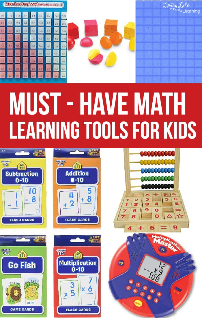 Need math help? Math is more than worksheets, grab these must-have math learning tools for kids to make math fun and engaging for your kids.