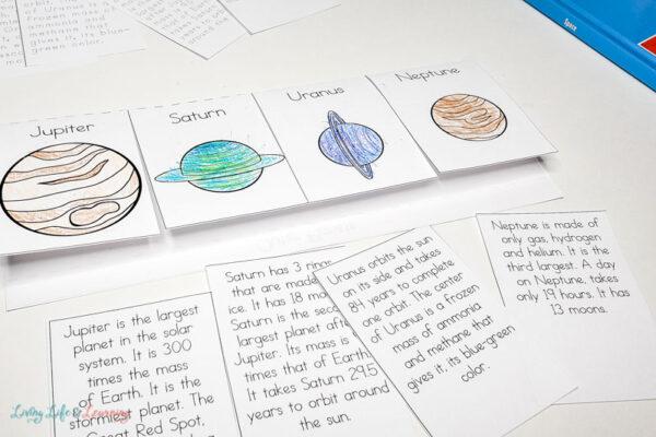 Planets Flapbook Printable