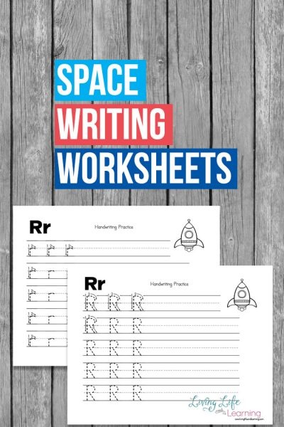 Use these space writing worksheets to get your space lover excited about school and explore space to make writing fun for your kids.