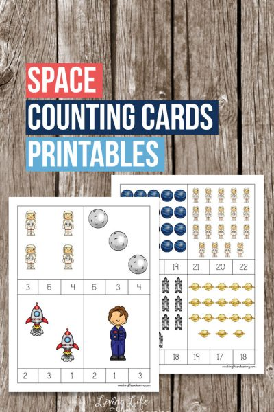 Space Counting Cards Printable