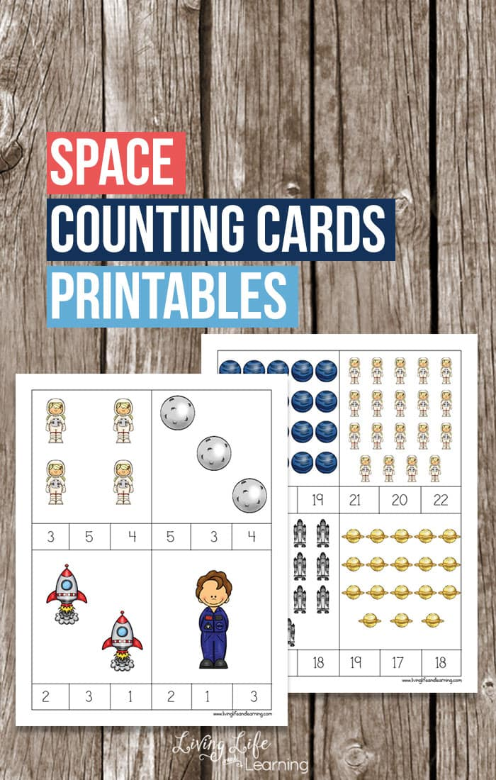 Spacing Counting Cards For Kids on writing printable kindergarten worksheets