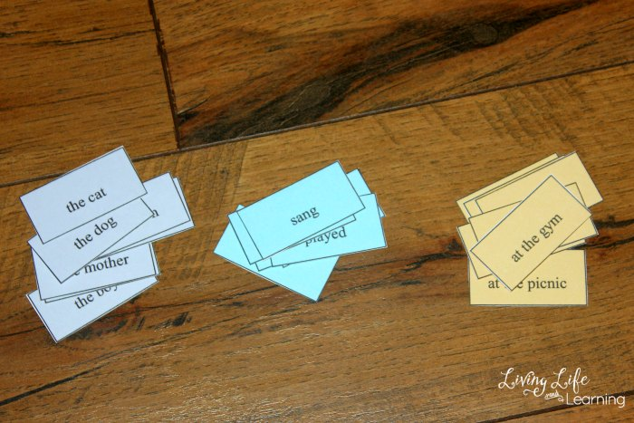 Check out this awesome and fun sentence starters activity with printable cards that you can get for your kids, too.
