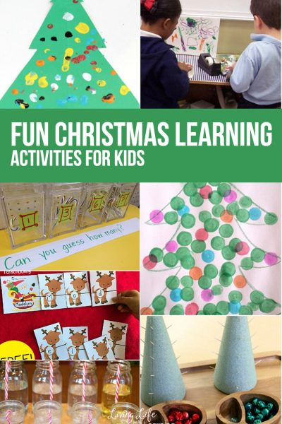 Fun Christmas Learning Activities for kids - get the kids excited about Christmas with these engaging hands-on activities to capture their imagination.