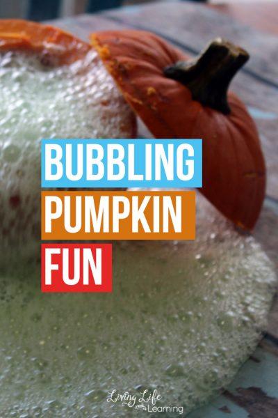 Bubbling Pumpkin Experiment