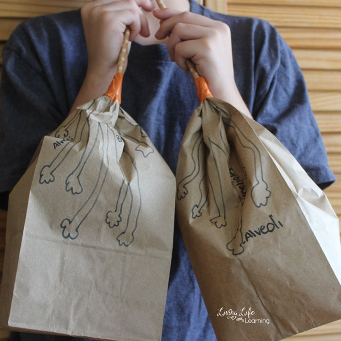 Make your own paper bag lungs activity for kids
