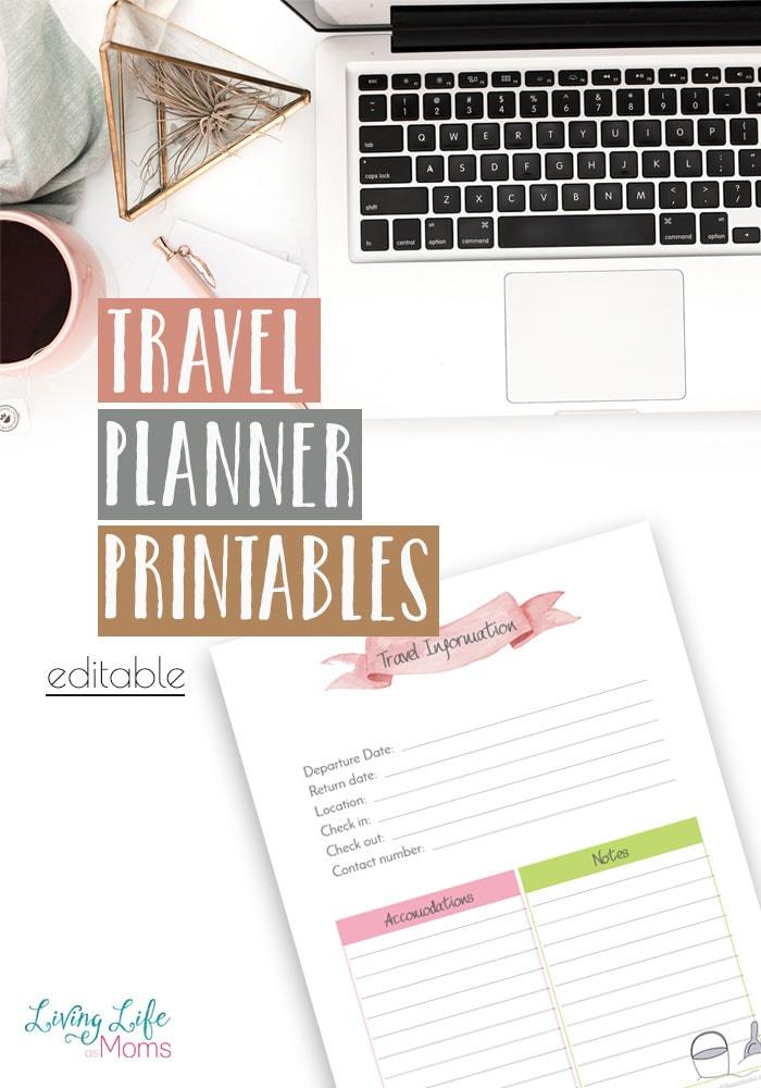 Free Travel Planner Printable