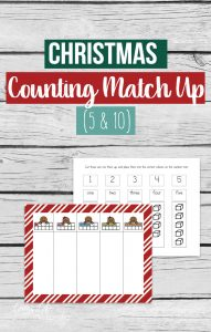 Fun way to count up to 5 and 10 - use this Christmas Counting Match Up to find the correct numbers,word and blocks as you count to 5 or 10.