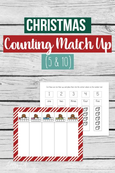 Christmas Counting Match Up Printable