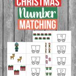 Count up to 12 with this adorable Christmas number matching printable - enjoy the holidays with this holiday themed activity for preschoolers.