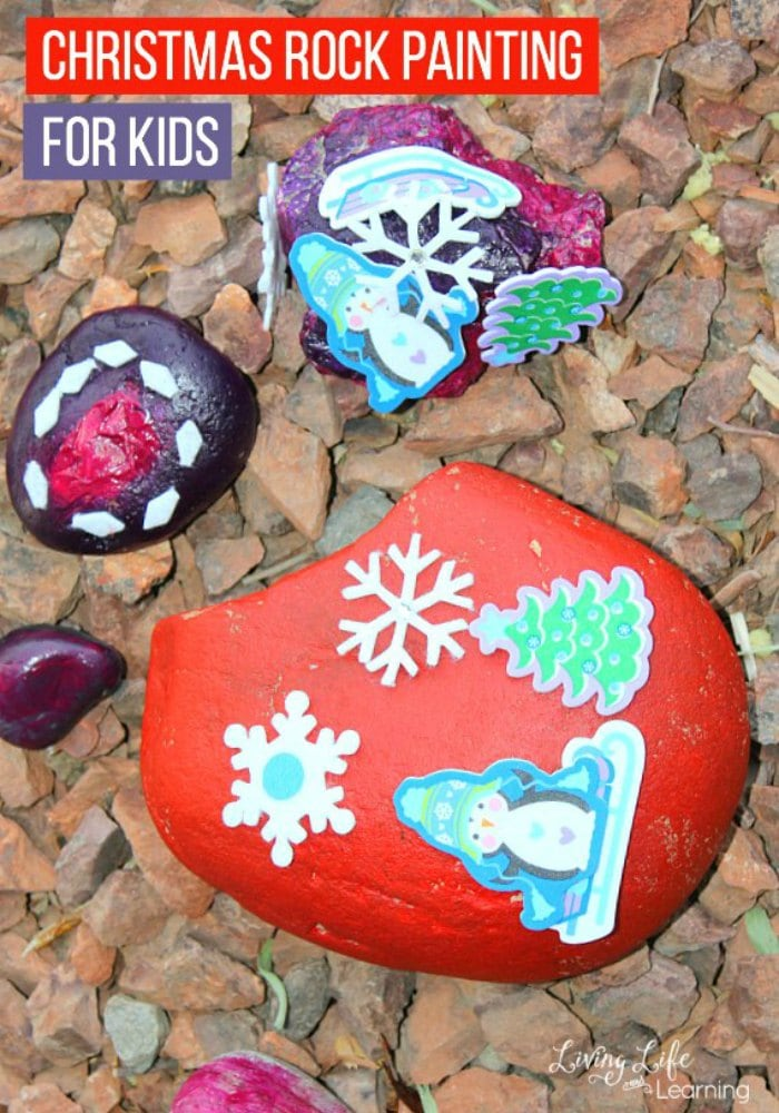 Christmas Rock Painting for Kids