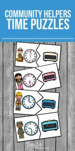 Community Helpers time puzzles