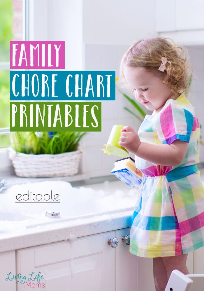 This printable family chore chart is the perfect way to get your whole family organized and on board with your cleaning schedule. Less stress for mom about cleaning the house is always better.