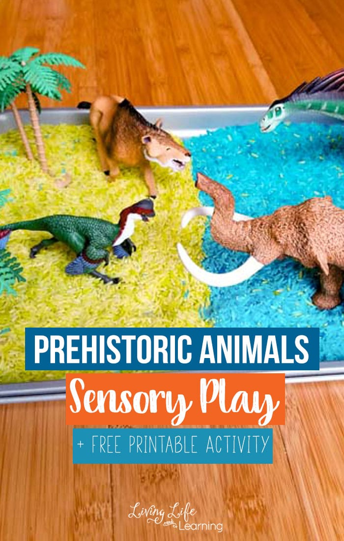 Prehistoric Animals Printables and Sensory Play
