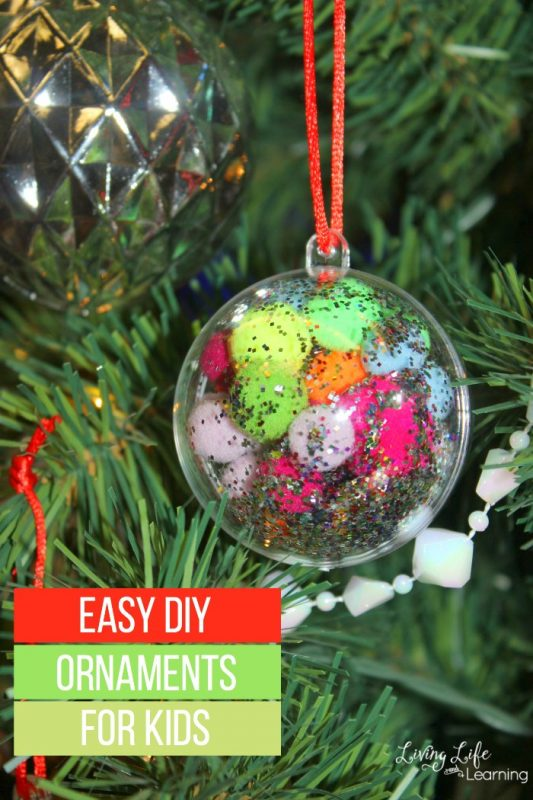 We will be making someeasy DIY ornaments for kids that are easy and special. They will make your Christmas tree look amazing!