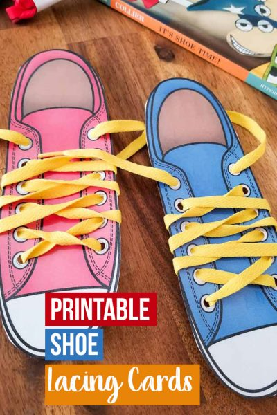 Help your child practice tying their shoes with these adorable printable shoe lacing cards, get the hanging of tying your shoes in no time.