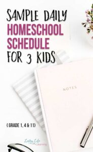 Sample homeschool daily schedules for kids