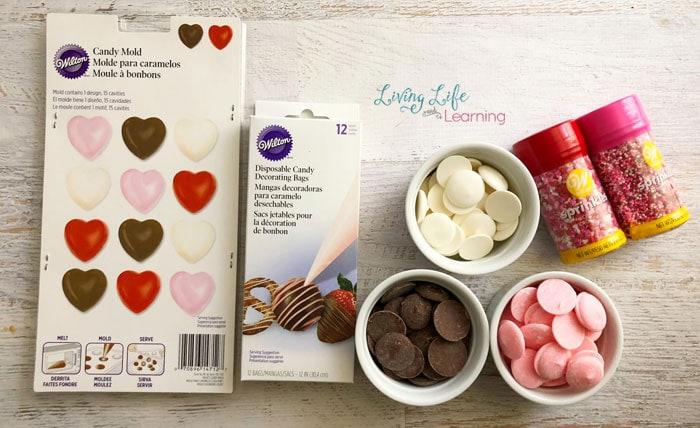 valentine's day chocolate heart supplies