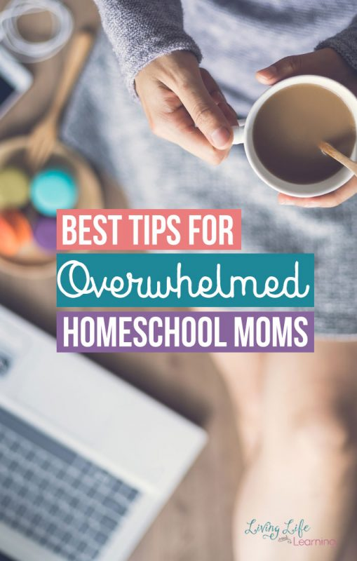 Best Tips for Overwhelmed Homeschool Moms - we all started not knowing and thing and here were are still homeschooling years later, see what these wonderful bloggers have to offer to help you get over your fear of homeschooling your kids. The best advice and tips for homeschool moms you can't get anywhere else.