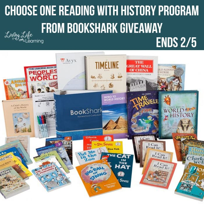 Enter to win your one level of the amazing Reading with History program from BookShark now