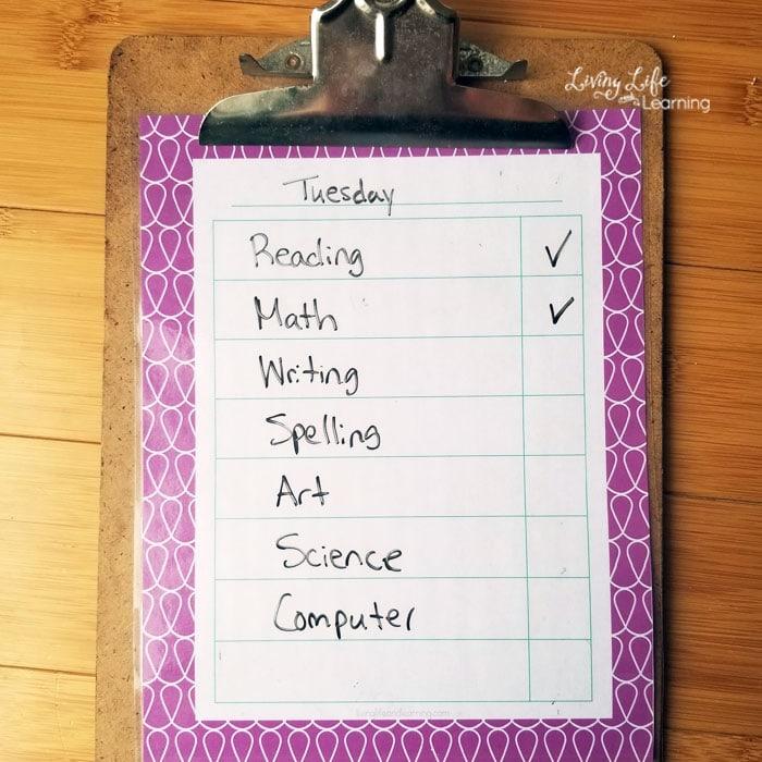 homeschool schedule for grade 1