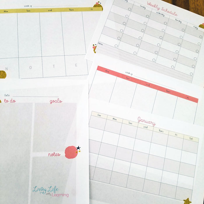 get more done in your homeschool with the free printable homeschool planner so you can stay