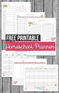 Get more done in your homeschool with the free printable homeschool planner so you can stay on top of your homeschool day. Bring peace into your day and know what each child has to finish for the day.