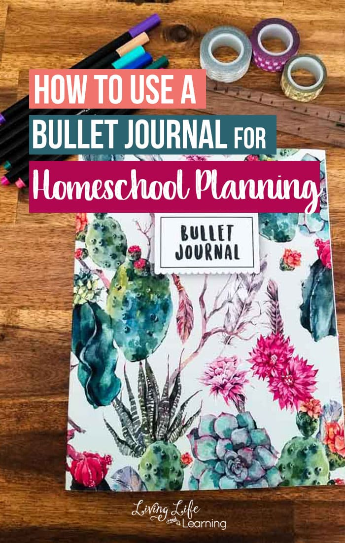 How to Use a Bullet Journal for Homeschool Planning - you don't have to use a fancy expensive planner, create your own homeschool plans with a simple bullet journal. Don't be intimated by bullet journaling. It's such an easy and inexpensive way to do your homeschool planning.