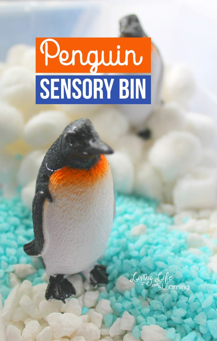 Explore Antarctica with this fun Penguin Sensory Bin. Get these penguins swimming in the water and playing in the snow as penguins love to do. Invite your kids to pretend play with these penguins and provide tons of imaginative play for your kids.
