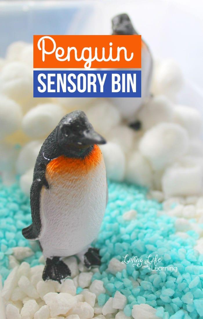 Easy Penguin Sensory Bin