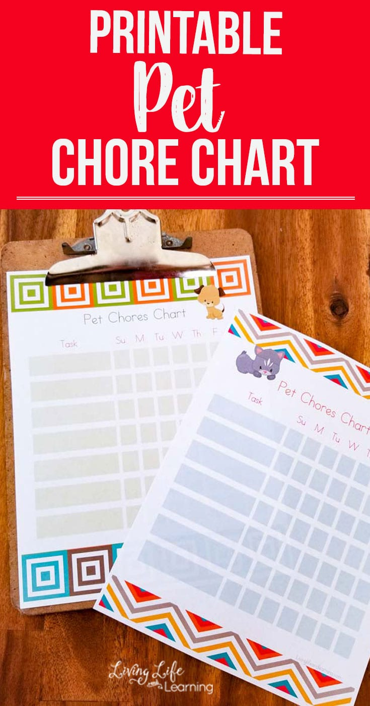 Perfect way to teach kids to take care of the dog or cat. Teach your kids responsibility with their pets and use this printable pet chores chart to have them keep track of what they've completed for each day. #ad #Dysonclean #pets #kids