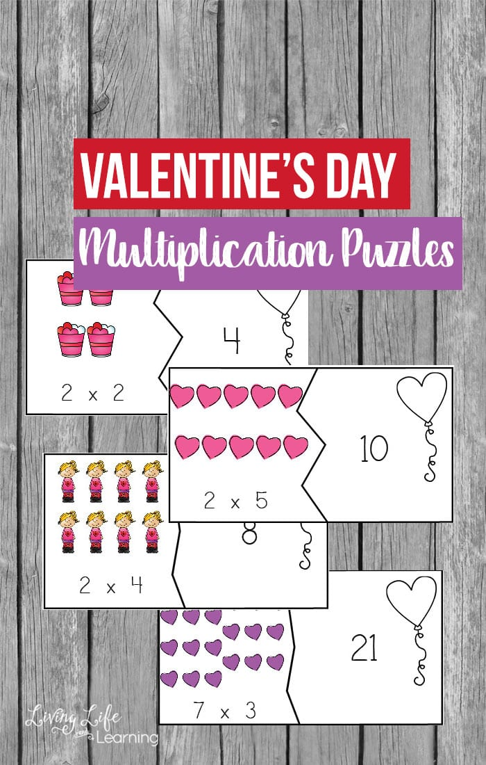 Have fun learning math with these adorable Valentine's Day Multiplication Puzzles to get your child regrouping and skip counting as they learn to multiply. Don't make math a chore with boring worksheets, have fun learning math with these multiplication puzzles instead.